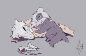 cubone__s_mum_death___pokemon___digital_sketch_by_yazenko-d5npqyz
