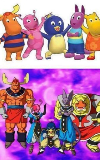 Crazy fan art depicting the Backyardigans as other Universal Gods of Destruction